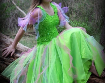 Adult Tinkerbell  Halloween Costume ~ Theatre ~ Masquerade ~ Dress-Up ~ Mardi Gras