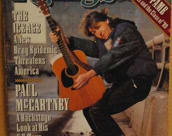 Paul McCartney US Tour Kate Bush Feb 8, 1990 Rolling Stone magazine