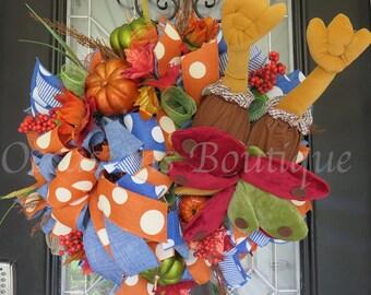 Fall Wreath, Autumn Wreath, Door Hanger, Large Wreath, Wreath for Door, Thanksgiving Wreath, Front door Wreath, Ready to Ship