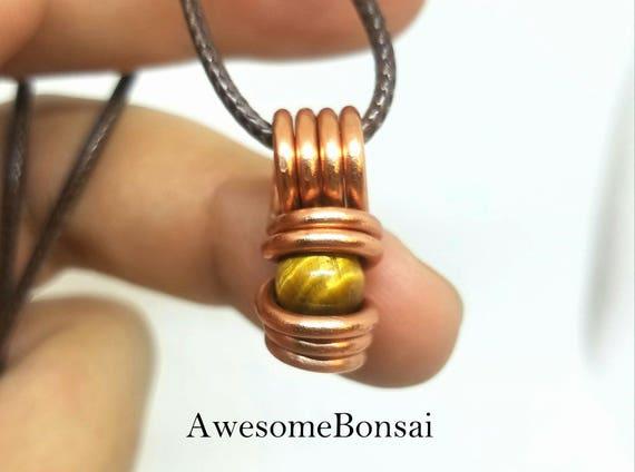 Tiger eye necklace, Gemstone jewelry,  Wire wrapped stone pendant, Bridal Jewelry, tiger eye jewelry, gypsy necklace, Boho chick, Chakra