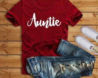 Auntie Shirt, Blessed Auntie, Auntie T Shirt, Aunt Shirt, Family Shirt, Auntie Squad, Christmas Gift, Aunt Life, Pregnancy Announcement
