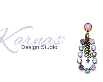 UNICORN TEARS 2018 Spring/Summer 8/12mm Statement Earrings Swarovski Crystal *Choose Your Finish *Karnas Design Studio™ *Free Shipping*