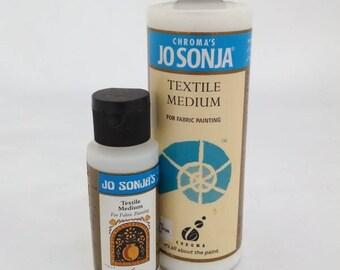 Jo Sonja's Textile Medium for Silk Fusion, Jo Sonja's Gloss Varnish, Jo Sonja's Varnish Gloss, Polyurethane Water Based, Fabric Painting