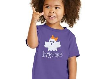 Toddler Girl Halloween Glitter BOO-tiful Shirt