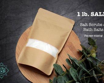 1 lb. SALE: Bulk Discount Salt Scrubs & Bath Salt Blends Available, 16oz; Choose from Multiple Options, Flat-Rate Domestic Shipping Price