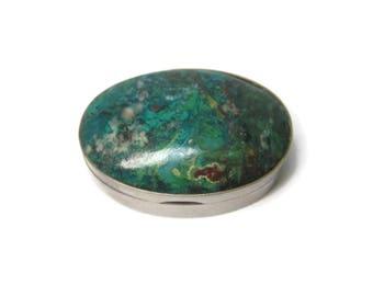 Vintage Mexican Chrysocola Pill Box