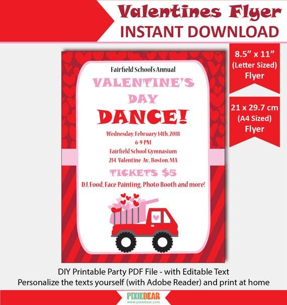 Valentines Day Flyer Valentines Flyer Template Valentines Flyer