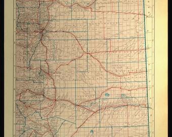 Colorado Map Etsy - Map of colorodo