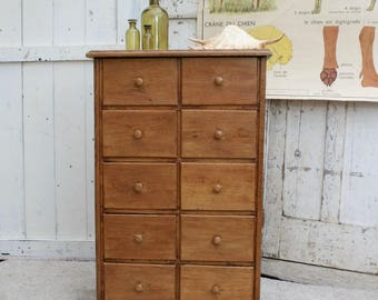 Apothecary Cabinet / Apothecary / Apothecary Drawers / Shop Drawers / Vintage / Oak Drawers / Industrial Decor / Oak / Chest of Drawers