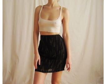 90s Silk Mini Skirt Small 27
