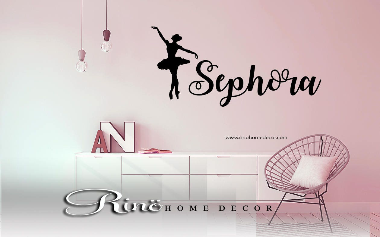 Ballet Wall Decal Ballerina Wall Art Decal Custom Name Vinyl - Custom vinyl wall decals dance