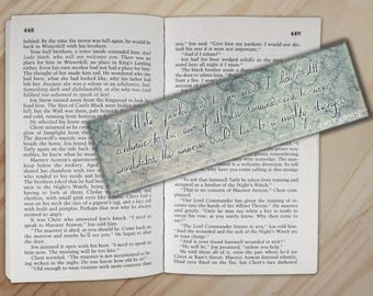Wuthering Heights Bookmark - Heathcliff and Catherine Emily Bronte Flat Bookmark