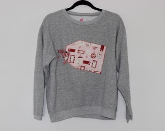 Ugly Christmas Sweater Sweatshirt L  781