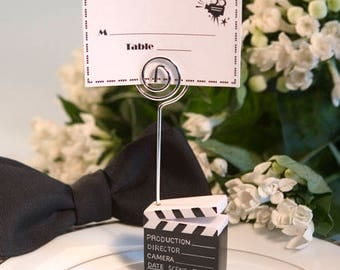 Clapboard Style Place Card Holder - Movie Themed Wedding Shower Party Favor 15-100 Qty  5346