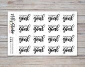 Today's Goal Stickers in black | Goal Setting Planner Stickers | The Nifty Studio [405B]