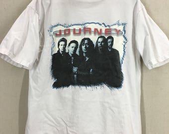 Vintage 90's Journey Rock Concert Tour T-Shirt Sz L