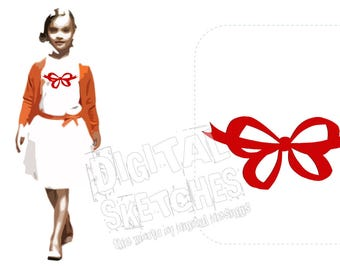 Ribbon Machine Embroidery Design Instant Download 4 Sizes