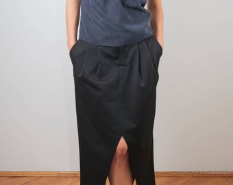 blue top/ black top/ black modern blouse/ gray blouse/ modern top