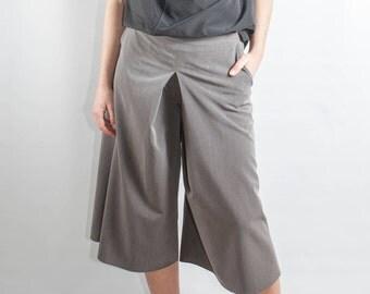 midi pants/ long pants/ loose pants