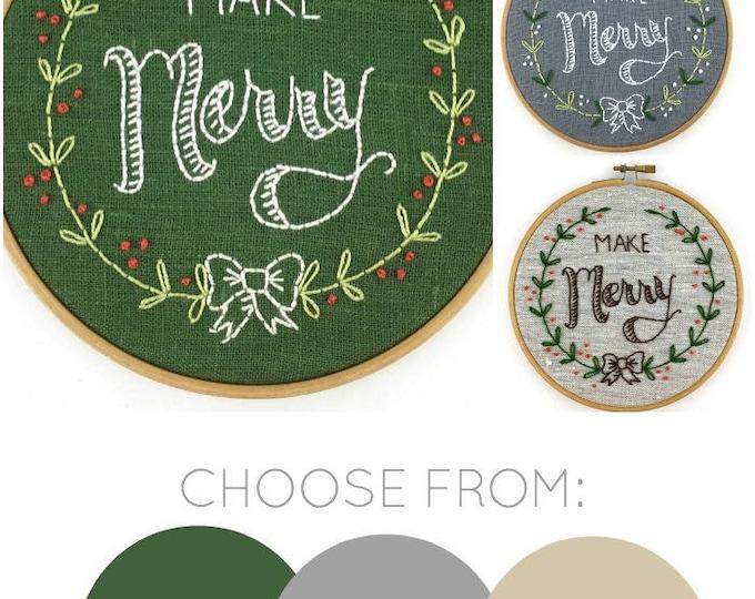 Make Merry Embroidery Kit {basic}