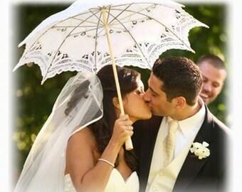 Adult Lace Wedding Parasols, Bridal Umbrella - Wedding Accesories, Party Decors, Props