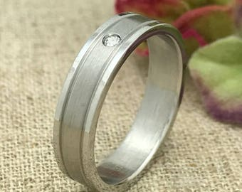 5mm Personalized Stainless Steel Wedding Band, Custom Engraved Ring, Promise Ring, Couples Ring for Him and Her, Wedding Ring, Purity Ring