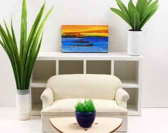 Original Miniature Artwork for the Modern Home - Classic Ocean Sunset