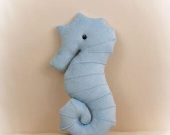 Seahorse Shaped Pillow, Toy Pillow, 3D Pillow, Nautical Decor, Beach House Decor