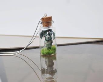 Zelda Inspired Korok with Umbrella Necklace/Keyring