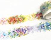 Flowers Washi Tape, Colorful flowers washi tape,Beautiful Washi Tape, Plants Washi Tape