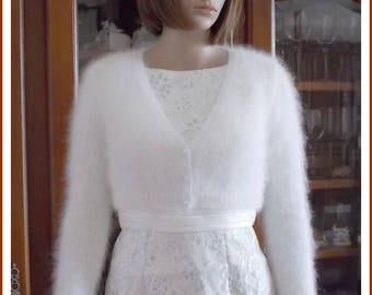 "TO order: ""Kate Middleton"" white Angora Bolero"