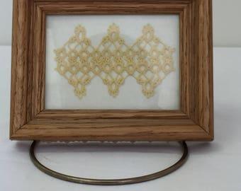 Tatting   OOAK Gifts   Tatted Art   Framed tatting   Framed Handmade Lace   Lace Art   Fiber Art   Made in America
