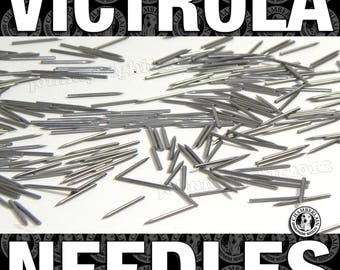 2500 MEDIUM tone ETSY Phonograph NEEDLES for Vintage Gramophone Victrola 78rpm Shellac Records polished metal for vintage records