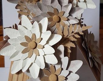 Personalised Handmade 3D Pop-Up Flowers  Mum Sister Friend Nan etc Birthday Card