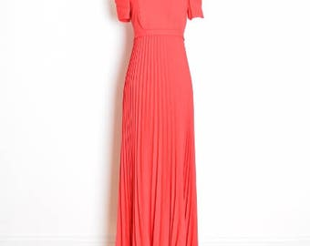 vintage 90s dress, 90s prom dress, 90s babydoll dress, pleated dress, 90s clothing, long red dress, off shoulder dress, babydoll maxi dress