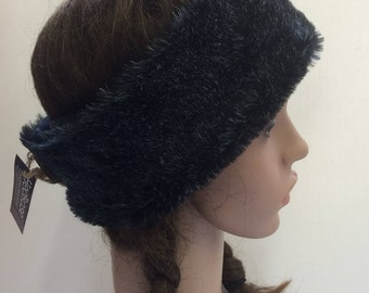Black Faux Fur headband.