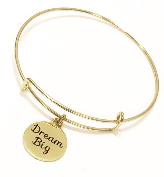 Dream Big Bracelet, Encouraging Gift, Dream Big Jewelry, Dream Big Gift, Motivational Bracelet, Encouragement Bracelet, New Job Gift For Her