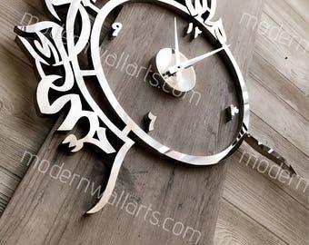 Ultra modern mashallah tabarakallah clock. modern islamic clock