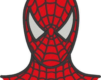 Spiderman super hero digital embroidery design