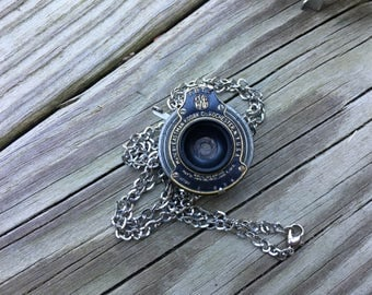 Antique Kodak Folding Camera Early 1900's Shutter Pendant, Jewelry, Necklace, Shutter, Steampunk