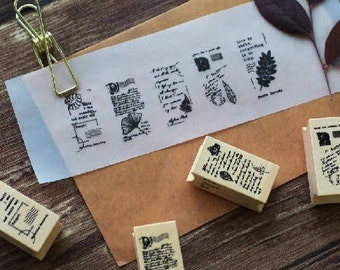 Natural style rubber stamp