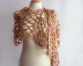 Crochet Wrap, Cotton wrap, Lace Wrap, Crochet Shawl, Summer Shawl, Lace Shawl, Wool Free, Gift for Her, Gift for Mum, Valentines Gift