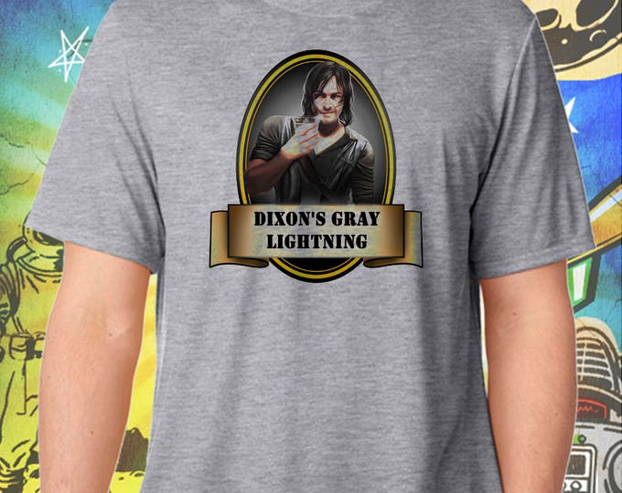 The Walking Dead / Current Daryl / Dixon's Gray Lightning / Men's Zombie Gray Performance T-Shirt