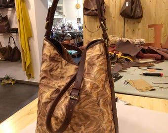 "Bag model ""pleated bucket"""
