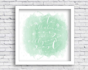 Matthew 11 - Come to me all who are weary - Wall Art
