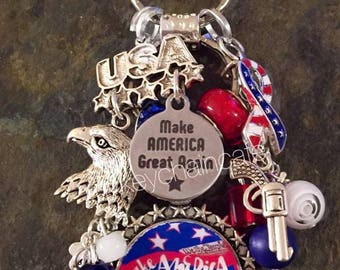MAGA Trump Make America Great Again Donald Trump 2016 Campaign US President Jewelry/Novelty/vote for trump ~  HandmadeKey Chain My President