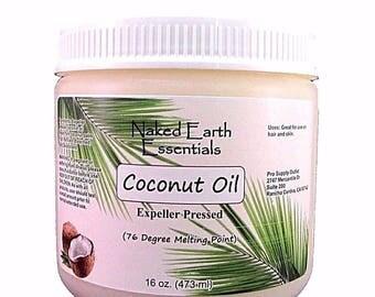 Coconut Oil 76 Degrees Expeller Pressed 16 oz.