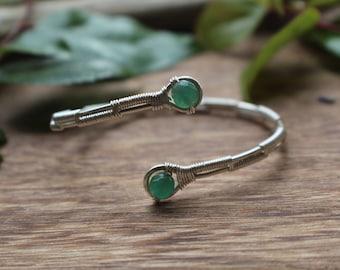 Green Aventurine Wire Wrapped Bracelet