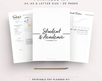 Student Planner, Study Planner, School Planner, Back to School, College Planner, High School Planner, Academic Planner, Printable