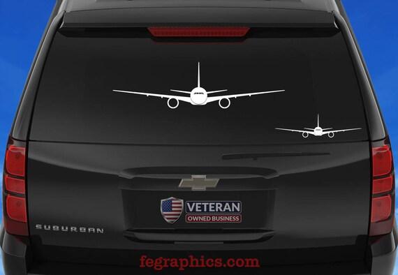 Boeing 777 300er Front View Vinyl Decal Sticker